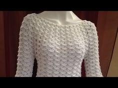 Tutorial Blusa Hojitas 1ra Parte Crocheteando con la Comadre - YouTube