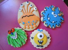 Alien / Monster Cookies  Custom Gourmet Sugar by PartyCreative, $35.00