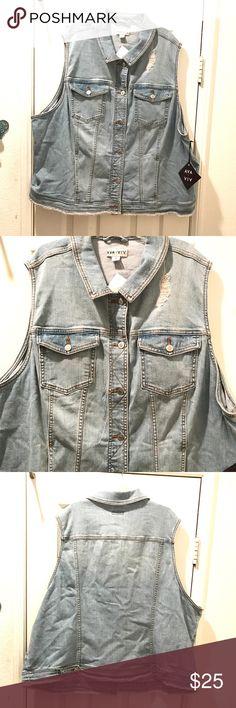 Ava & Viv jean vest Super cute jean vest from Ava & Viv. 98%cotton, 2% spandex Ava & Viv Jackets & Coats Vests