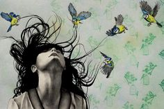 """""""Take Me Away""""--drawing by UK based artist Kate Louse Powell"""