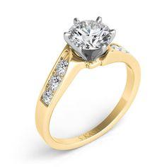 Engagement Ring style number EN1904YG.