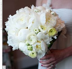 White Peonies and Ranunculus