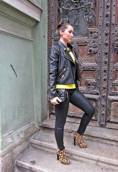 Neon Leopard  , Mango en Chaquetas, Zara en Jeans, Zara en Botines, Zara Trafaluc en Bolsos