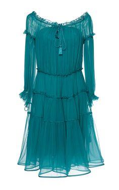 Alberta Ferretti - Chiffon Gathered Dress