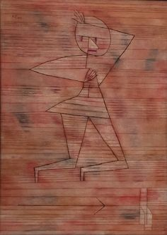Paul Klee, Fleeing Ghost, 1929 on ArtStack #paul-klee #art
