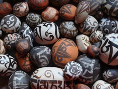 Create Your Own Mani Stone Mound - Buddhist Prayers on Carved Mani Stones, just like in Tibet, Bhutan, India and Nepal...