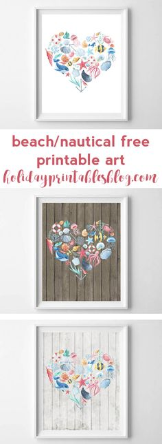 These rustic, nautical-themed free printables are perfect for the beach-lover in your life. Featuring your choice of three different backgrounds, and watercolor ocean-inspired items, these are some of my favorite summer printables to date!