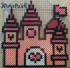 Pink Princess Castle by PerlerPixie on DeviantArt