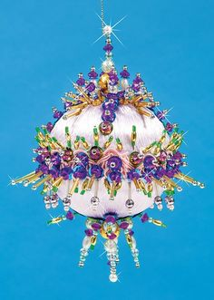 An exclusive beaded ornament design to adorn your Christmas tree.