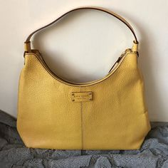 Kate Spade Yellow Leather Shoulder Bag Handbag Purse Satchel - GREAT CONDITION! #katespade #ShoulderBag