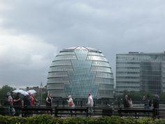 London City Hall taken from Tower of London, across the Thames  London UK June 2011