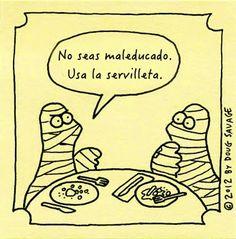 Usa la servilleta - Confesiones y Realidades Blog for Spanish Teachers