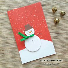 Christmas Paper Crafts, Diy Christmas Cards, Xmas Cards, Kindergarten Crafts, Art Plastique, Cool Cards, Homemade Cards, I Card, Diy And Crafts