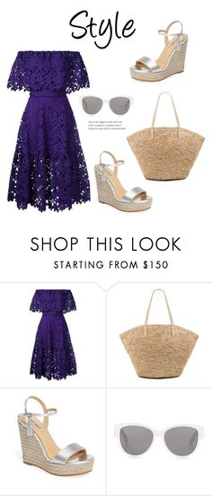 """""""386"""" by meldiana ❤ liked on Polyvore featuring Bambah, Flora Bella, Badgley Mischka and Yves Saint Laurent"""