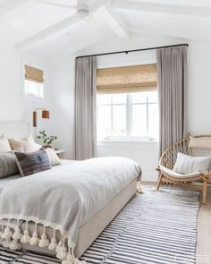 This serene boho bedroom by Amber Interiors is recreated for less by copycatchic. This serene boho bedroom by Amber Interiors is recreated for less by copycatchic luxe living for less budget home decor and design room redos Bedroom Windows, Cozy Bedroom, Dream Bedroom, Trendy Bedroom, Serene Bedroom, Bedroom Neutral, Budget Bedroom, Bedroom Beach, Bedroom Colors