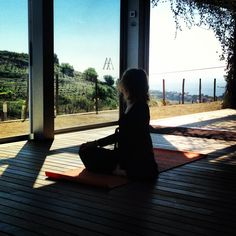 Yoga trough the vineyards with sea views