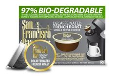 San Francisco Bay Coffee Decaf French Roast, 36-Count OneCup Single Serve Cups - http://www.freeshippingcoffee.com/k-cups/san-francisco-bay-coffee-decaf-french-roast-36-count-onecup-single-serve-cups/ - #K-Cups
