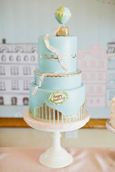 Flying Over Paris Whimsical First Birthday