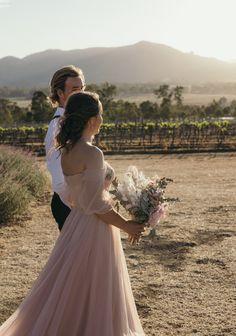 Field Wedding, Lavender Fields, Bridesmaid Dresses, Wedding Dresses, Off The Shoulder, Bodice, Tulle, Australia, Bridal