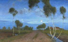 Abend im Moor 1896 - Fritz Ovebeck (1869–1909)