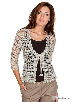 Enganchado en ganchillo: vestido de ganchillo y de arriba / Blusa em e vestido crochê