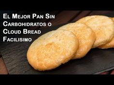 El Mejor Pan Sin Carbohidratos o Cloud Bread Facilisimo - YouTube Low Carb Recipes, Real Food Recipes, Vegan Recipes, Cooking Recipes, Pan Cetogénico, Best Keto Bread, Muffins, Food Wishes, Low Carb Diet