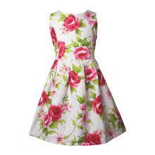 2015 vestido de flores popelina floristas 4 de moda para el verano 13Y caliente casual para niñas (China (continental))