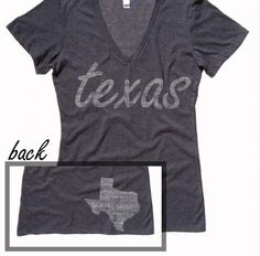 Texas Home State T Shirt Washed Deep V Neck.  http://www.washedtee.com/shop/womens/t-shirts-tanks/triblend-deep-v-neck/