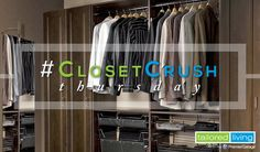 Turn your closet into a dressing area with an integrated mirror. Check your total look before you leave for the day.