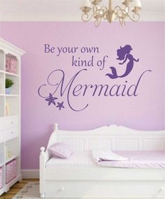 Be your Own Mermaid Quote Starfish Vinyl Wall Lettering Decal