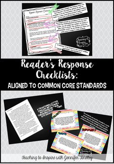 Reader's Response Letters {Rigorous CCSS Aligned Checklists} - Teaching to Inspire with Jennifer Findley Reading Strategies, Reading Skills, Teaching Reading, Guided Reading, Teaching Activities, Teaching Ideas, 5th Grade Writing, 5th Grade Reading, Readers Notebook