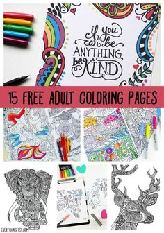 DIY Printable Coloring Pages for Adults {15 Free Designs}. These are my new favorite craft activity. I find it a stress reducer, who knew coloring could be so relaxing!