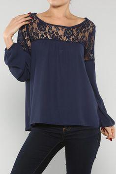 Lovely Lace top – Bleue #bleueboutique