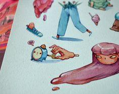 Small Drawings and Paintings 2017 by Marija Tiurina Small Drawings, Amazing Drawings, Doodle Drawings, Character Illustration, Illustration Art, Cute Doodles, Old Art, Art Studies, Traditional Art