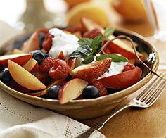 Summer Fruit with Minted Yogurt