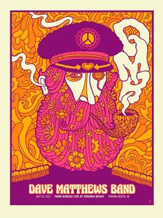 DMB Poster 7-26-2013 - Farm Bureau Live at Virginia Beach - Virginia Beach, VA