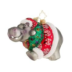Christopher Radko Ornaments 2015 | Radko Hippo Holidaze Ornament