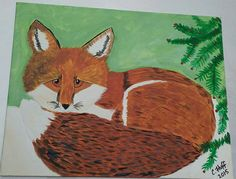 Check out this item in my Etsy shop https://www.etsy.com/listing/266392831/cute-red-fox-decoration-original-acrylic