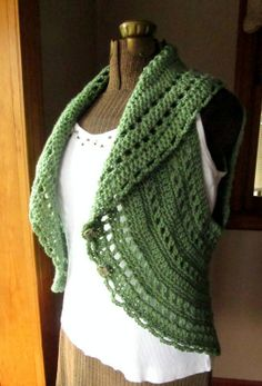 Crochet Pattern Circle Shrug or Vest Ladies Vest by LazyTcrochet, $5.00