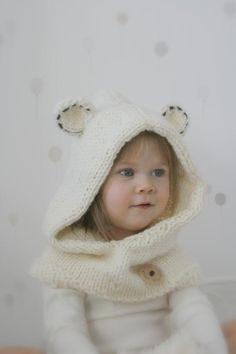 Looking for your next project? You're going to love Polar bear hood Popi by designer Muki Crafts. - via @Craftsy