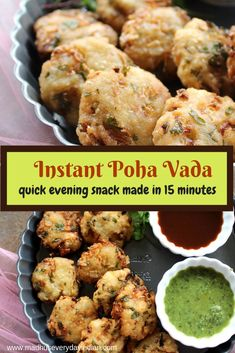 poha vada made instantly in 15 minutes. Poha vada also called aval vada or avil vadai or rice flakes Evening Snacks Indian, Easy Evening Snacks, Healthy Indian Snacks, Quick Snacks, Healthy Snacks, Healthy Smoothies, Snack Recipes, Cooking Recipes, Delicious Recipes