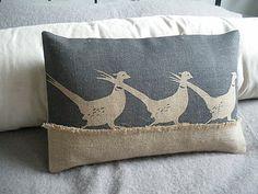 #FADSInspiredSpringInteriors Running Pheasants Cushion