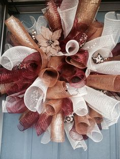 Beautiful Fall Deco Mesh Wreath by DHcraftsandmore on Etsy, $70.00