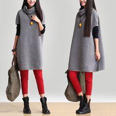 Collar was thin gray piles  Bat shirt / personalized stitching long sleeve  Knitwear