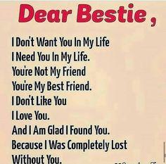 Best Friend Love Quotes, Best Friend Quotes Meaningful, Losing My Best Friend, Love My Best Friend, I Need Friends, Besties Quotes, I Love You Quotes, Love Yourself Quotes, You Are My Friend