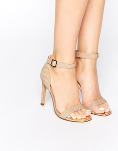 Dune+Maggi+Nude+Snake+Effect+Barely+There+Heeled+Sandals
