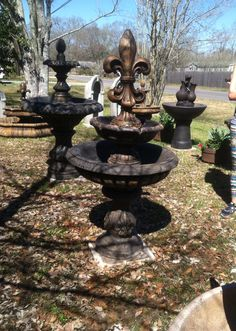 Customized Fleur De Lis Fountain