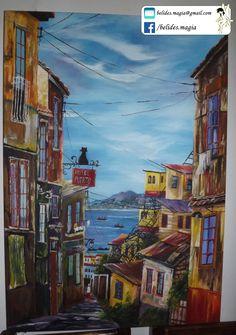 Urban Sketchers, Naive Art, Wood Art, Vintage Posters, Creative Art, My Drawings, Street Art, Digital Art, Abstract