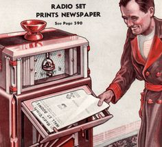Faxpapers: A Lost 1930s Technology That Delivered Newspapers via Radio. One of the greatest media experiments of the 1930s and 40s was the faxpaper. Almost entirely forgotten today, it was a technology that could deliver newspapers over the radio waves, then print them instantly right in your home.