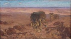 Henry O. Tanner Lions in the Desert - 1897 Oil on canvas - x inches Henry Ossawa Tanner, Artwork Images, Art World, Art History, Lions, Oil On Canvas, African Americans, Painting, Deco